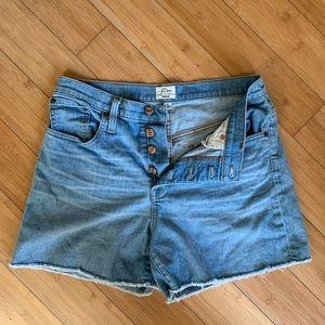 J. Crew cutoff denim shorts